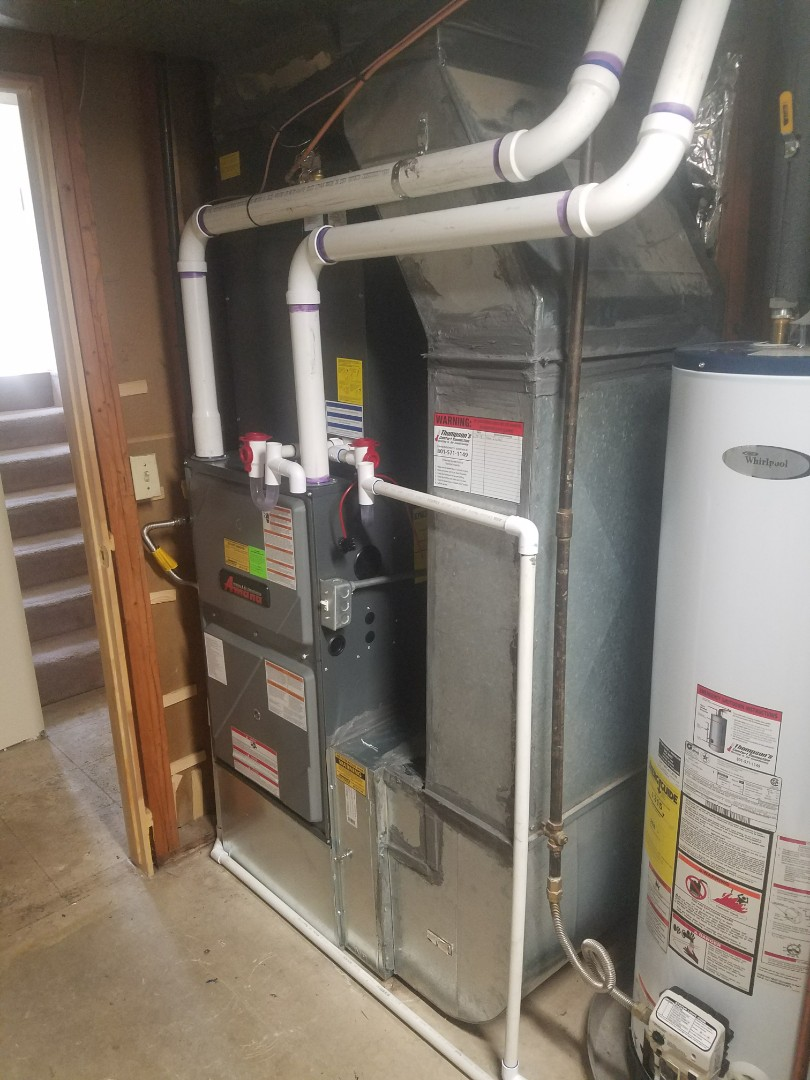 Sandy, UT - Installing Amana furnace and air conditioner