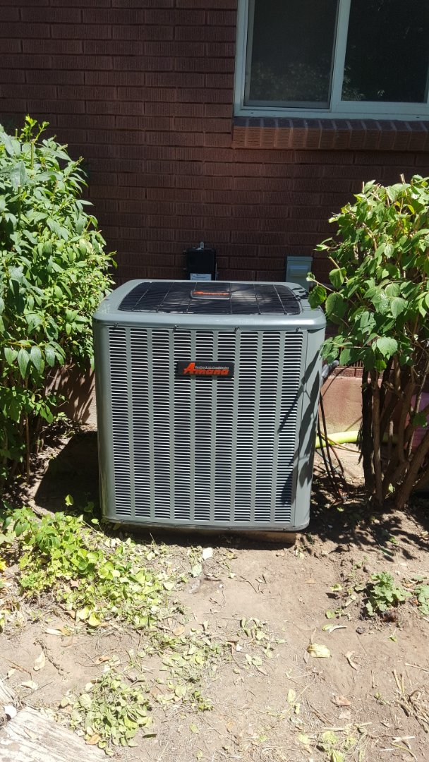 Salt Lake City, UT - Installed new amana high efficiency air conditioner on existing rheem furnace.