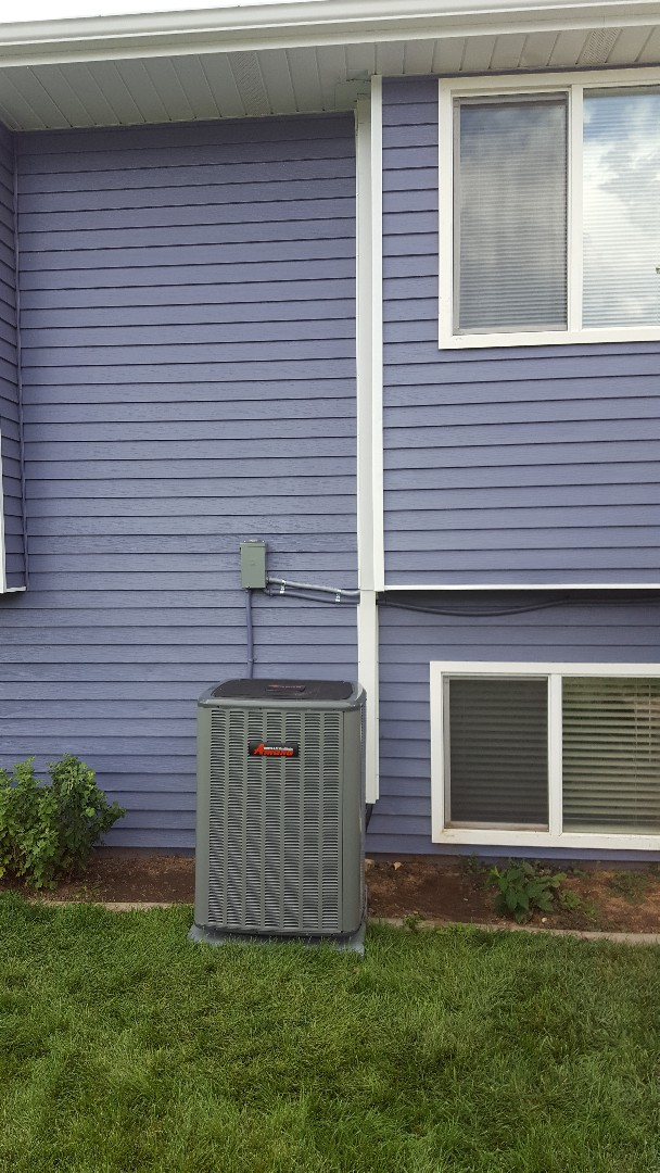 Sandy, UT - New amana high efficiency air conditioner in attic with new amana variable air handler.