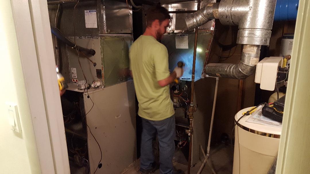 Salt Lake City, UT - Replacing 2 80% furnaces with new Amana furnaces.
