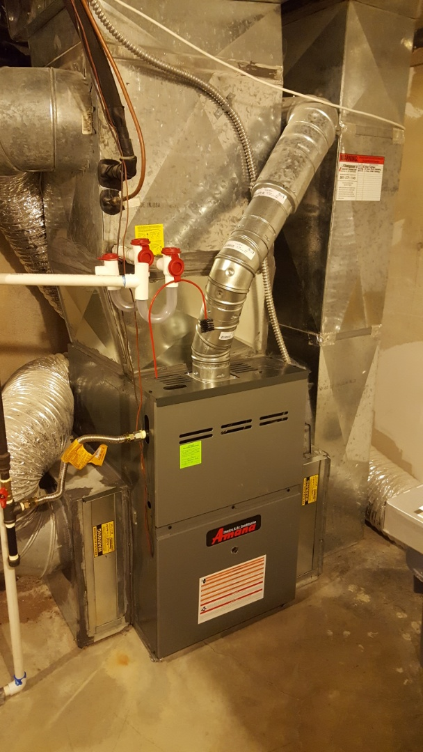 Salt Lake City, UT - Installing new 80% amana furnace