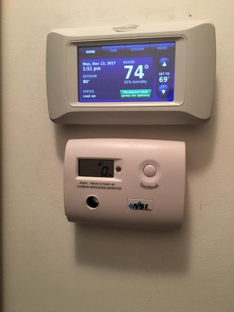 Lawrenceville, GA - New Comfort Club Membership. Replaced filters, checked electrical and safety switches all ok at this time. Found upstairs furnace with worn ignition and weak flame sensor. Replaced ignition, flame safety sensor and install co detector for the main floor. Tested and system working normally