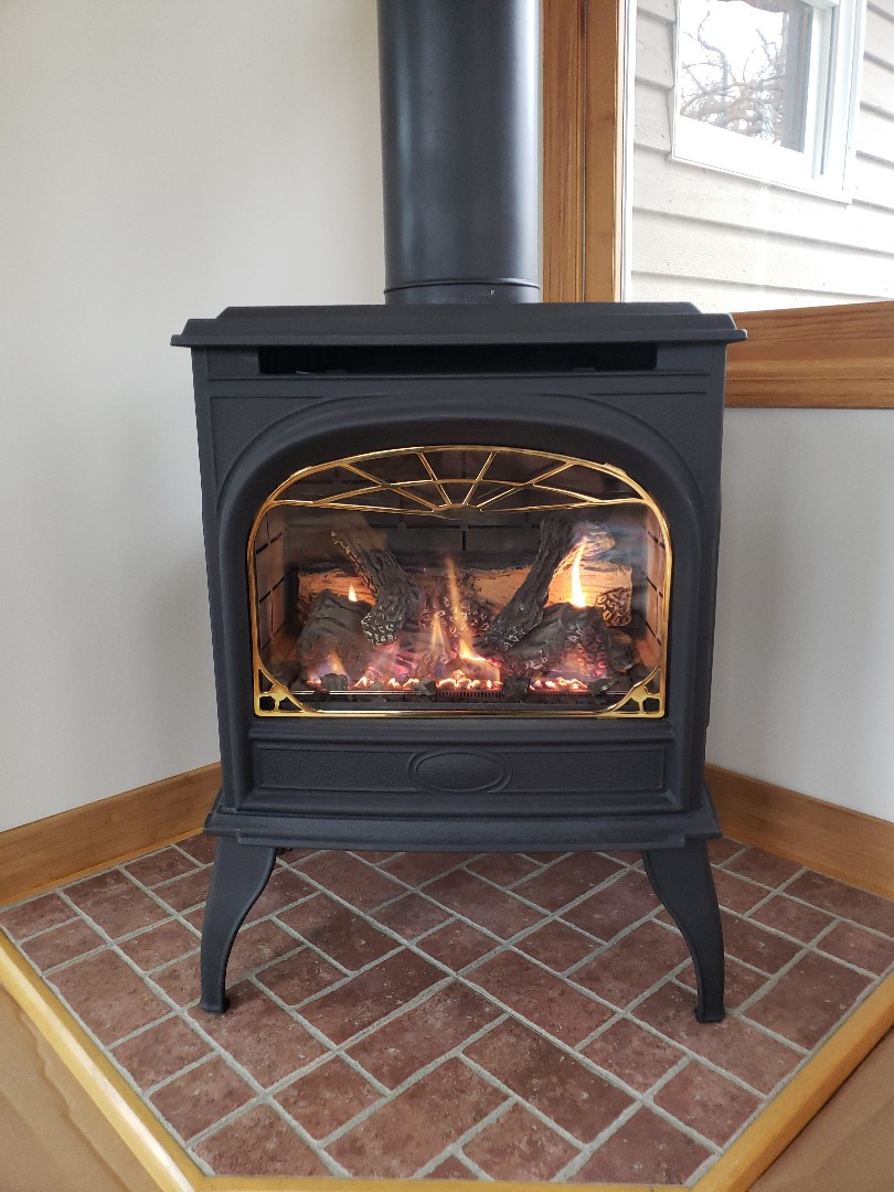 Woodville, WI - Gas fireplace cleaning and reinstallation after remodel