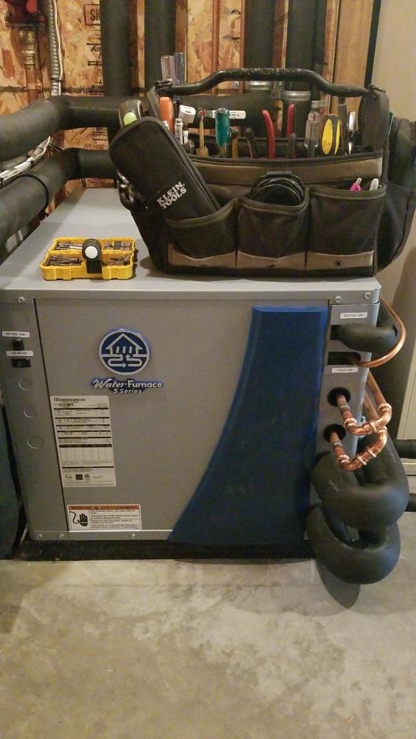 Hudson, WI - Water furnace forced air geothermal repair in Hudson Wi