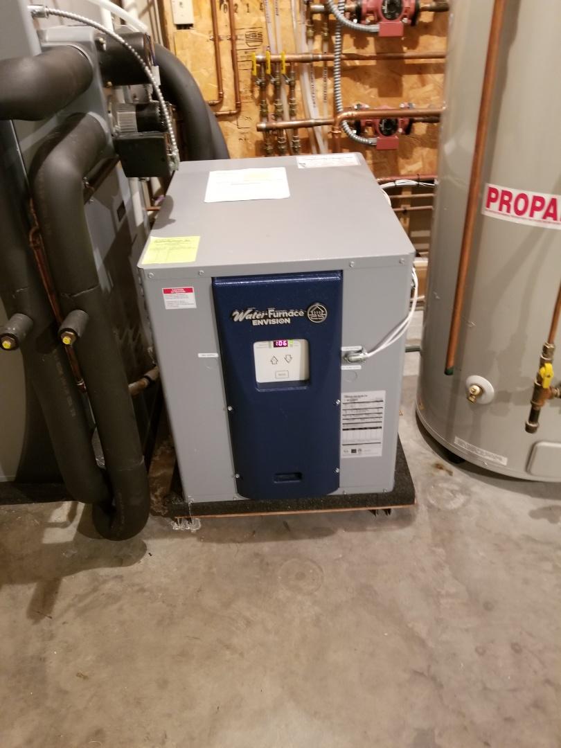 River Falls, WI - Water furnace floor heat geothermal service