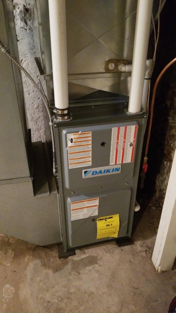 Pepin, WI - Daikin furnace service