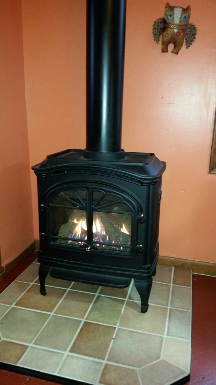 Stockholm, WI - Gas fireplace install