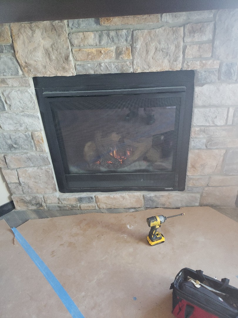 New Richmond, WI - Fire place start up