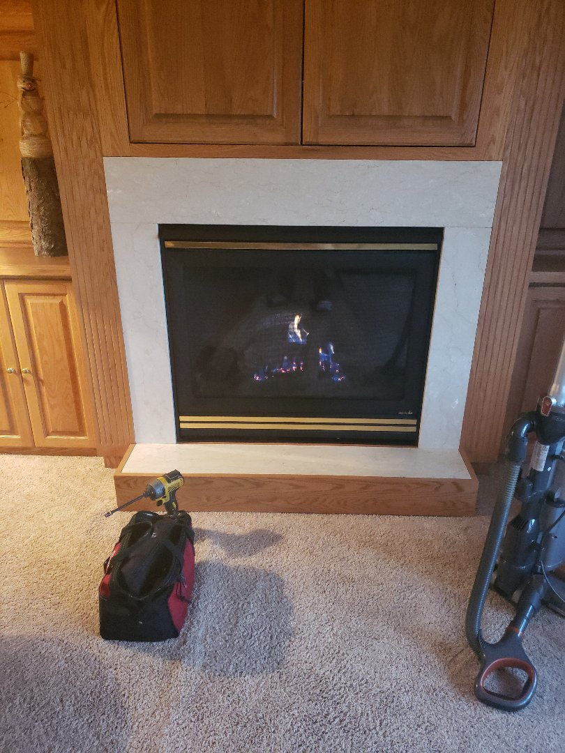 Baldwin, WI - Fireplace repair. Heat and glo