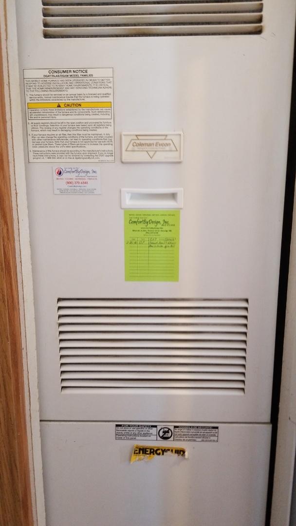 Ellsworth, WI - Coleman furnace repair