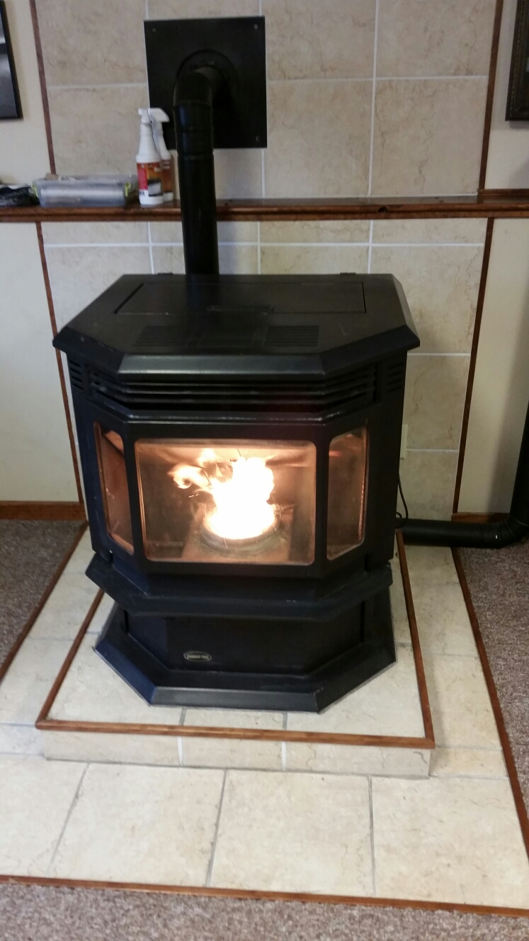 Maplewood, MN - Replace auger motor on Quadrafire pellet stove.
