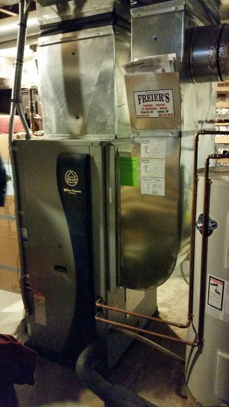 Goodhue, MN - Water Furnace geothermal service.