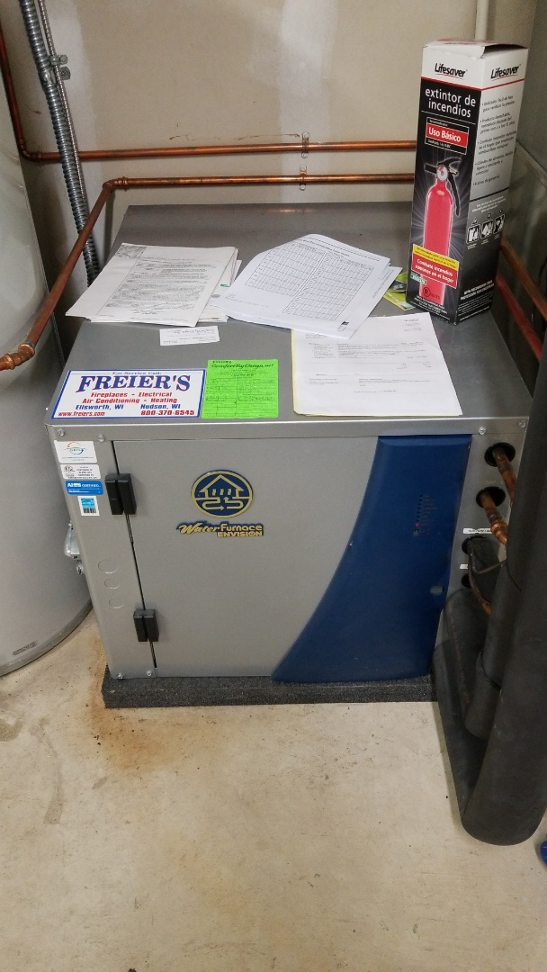 Hastings, MN - Water furnace geothermal forced air system