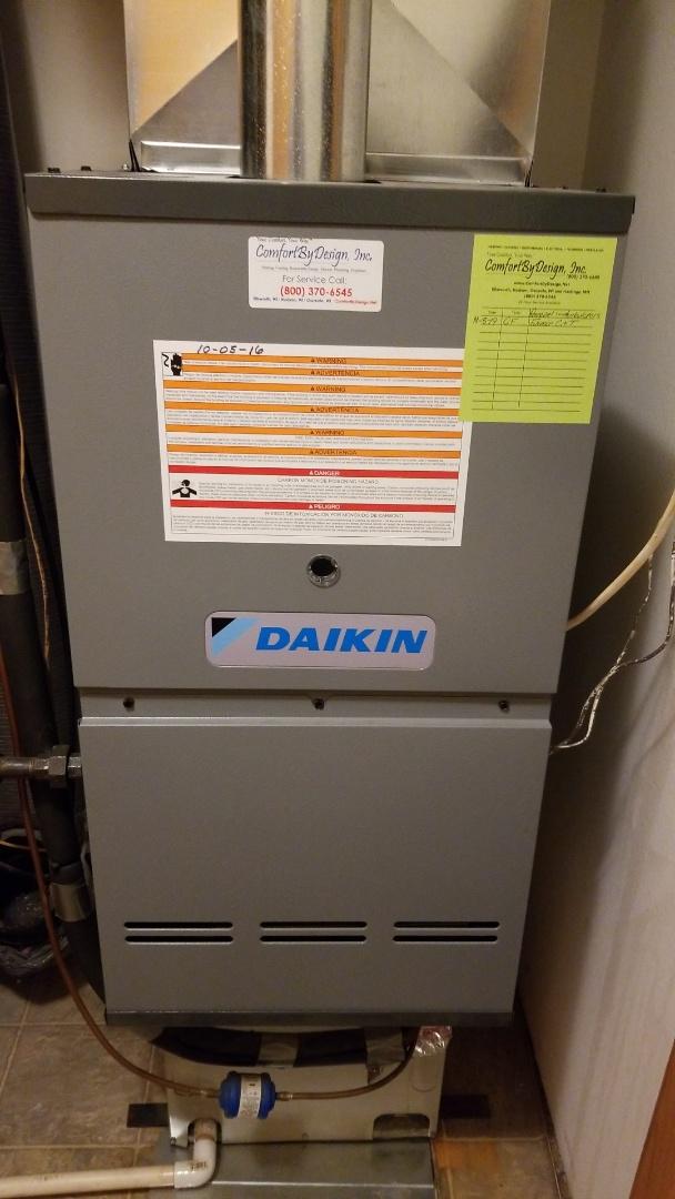 River Falls, WI - Daikin furnace service