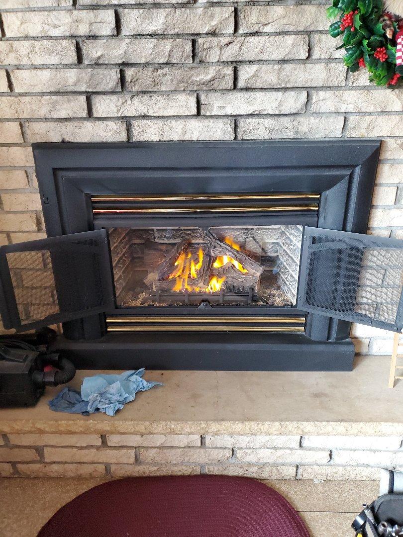 Hastings, MN - Gas fireplace insert repair.