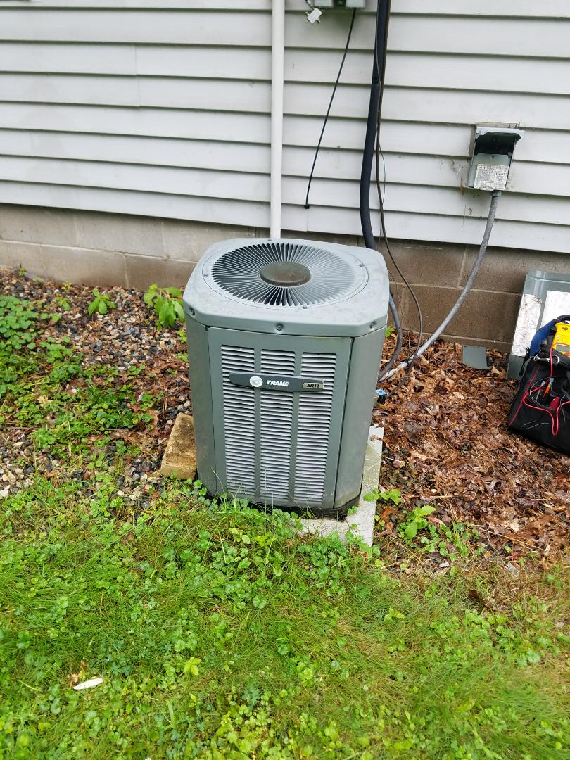 Afton, MN - A.c. service on trane in Afton