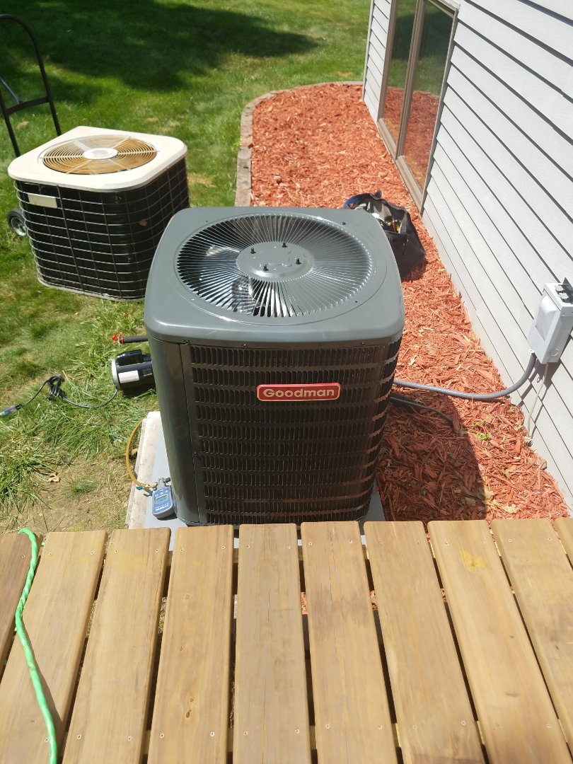 Somerset, WI - Installing new Goodman A.C. system in Somerset