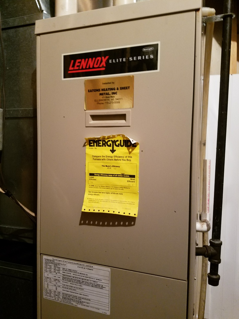 Spring Valley, WI - Furnace maintenance on Lennox in River fall's