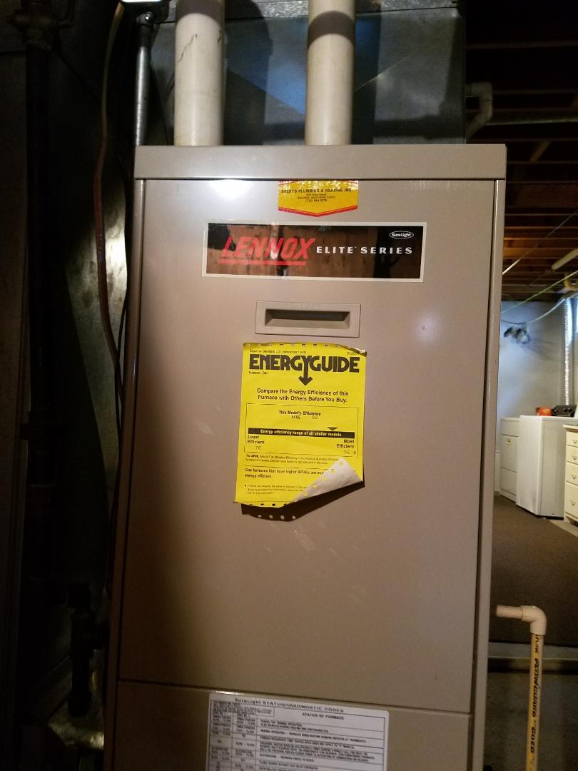 Baldwin, WI - Furnace maintenance on Lennox in Baldwin