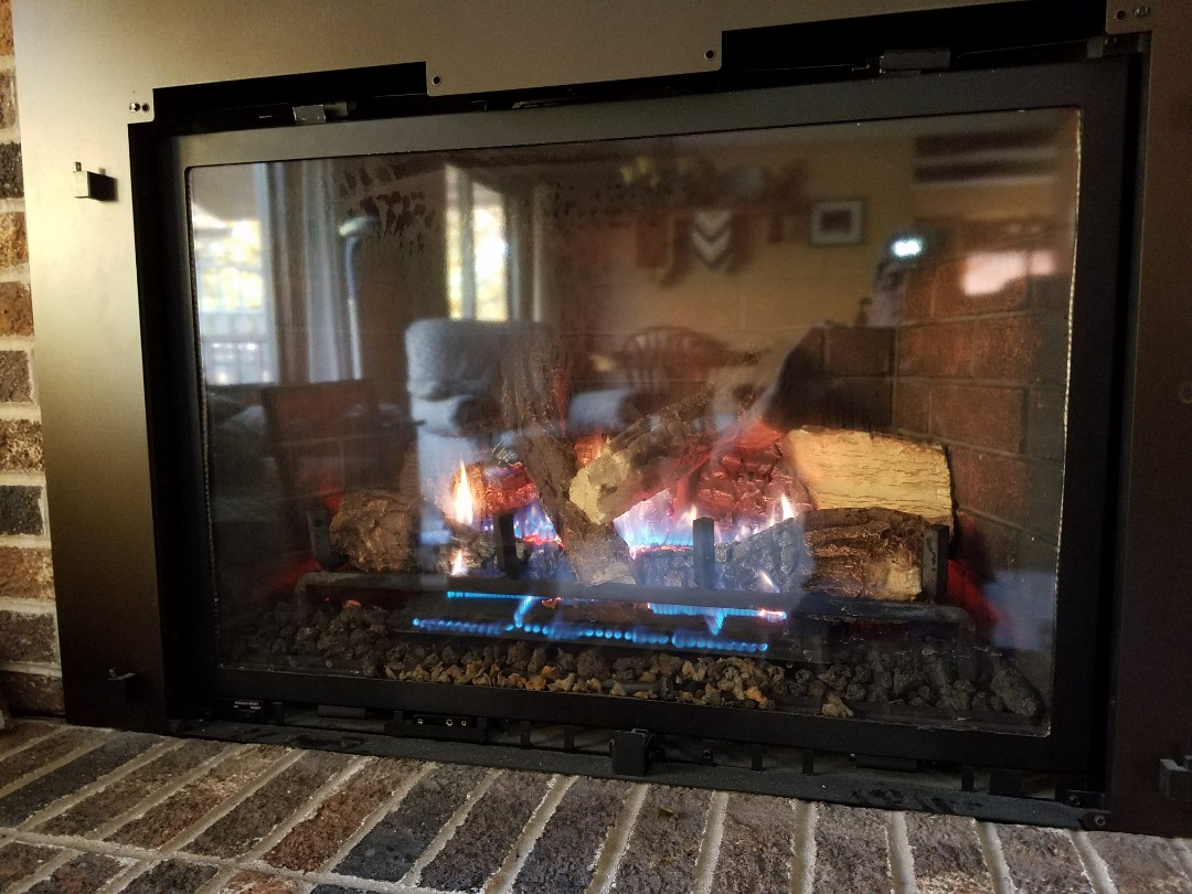 Welch, MN - Fireplace maintenance on Heat and glo in welch