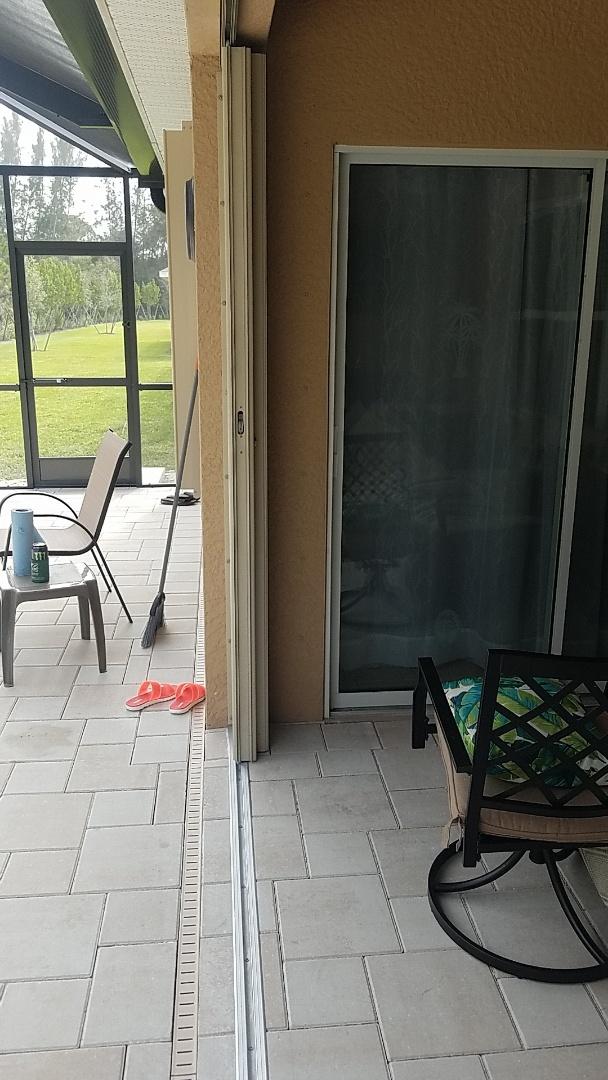 Punta Gorda, FL - Installed hurricane shutters and recessed track on back lanai