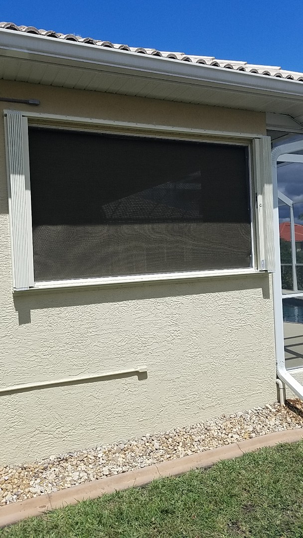Installed accordion shutters