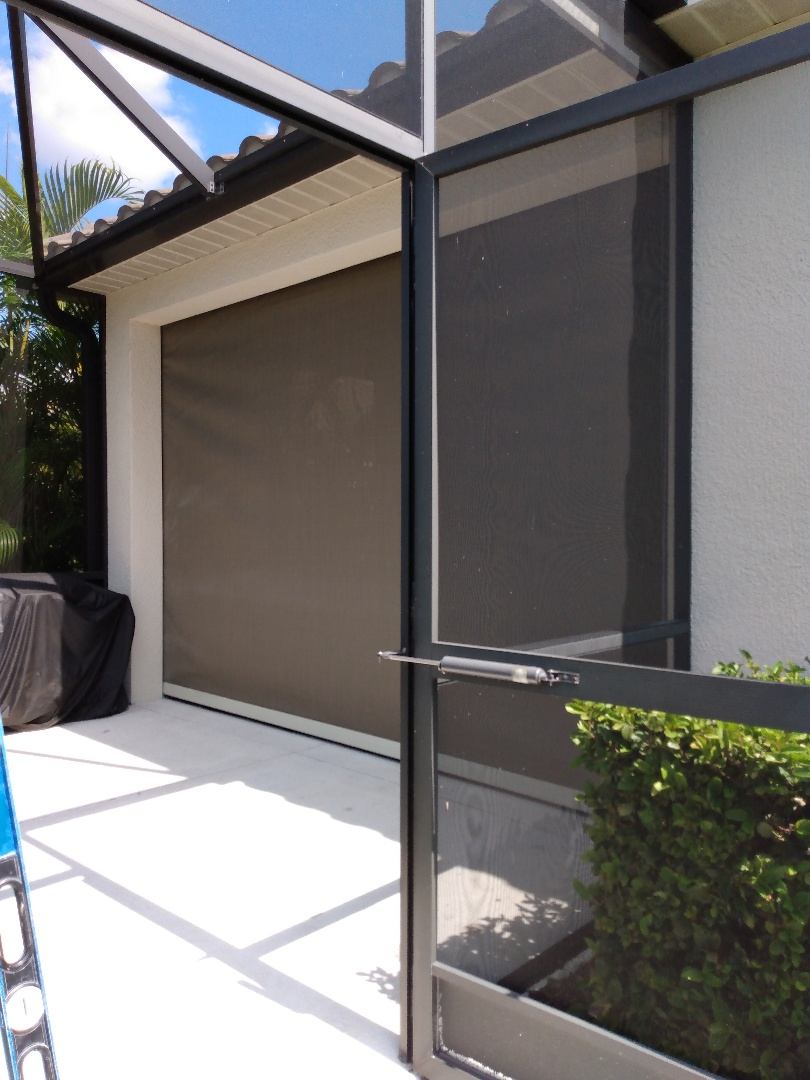 Rolldown hurricane shutters