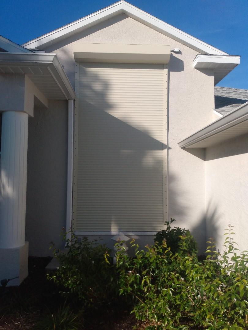 Roll down hurricane shutters