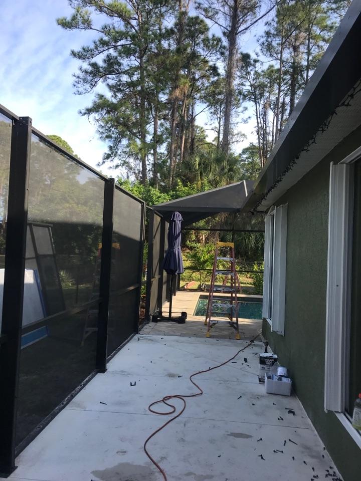 Installing new elite roof panels Harpers 1980 LLC