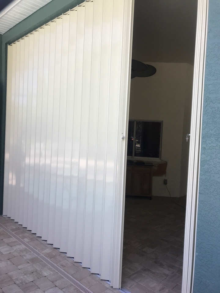 Installing accordion shutters Harper's 1980 LLC