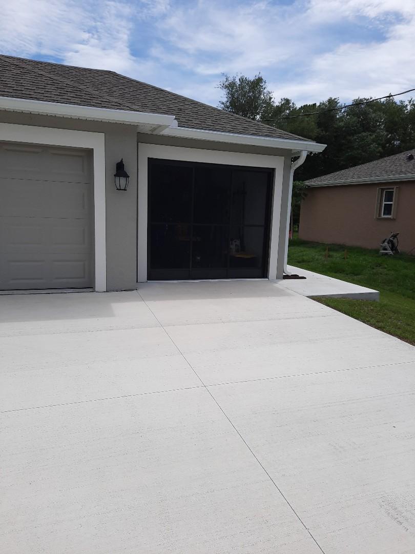 Installed garage slider