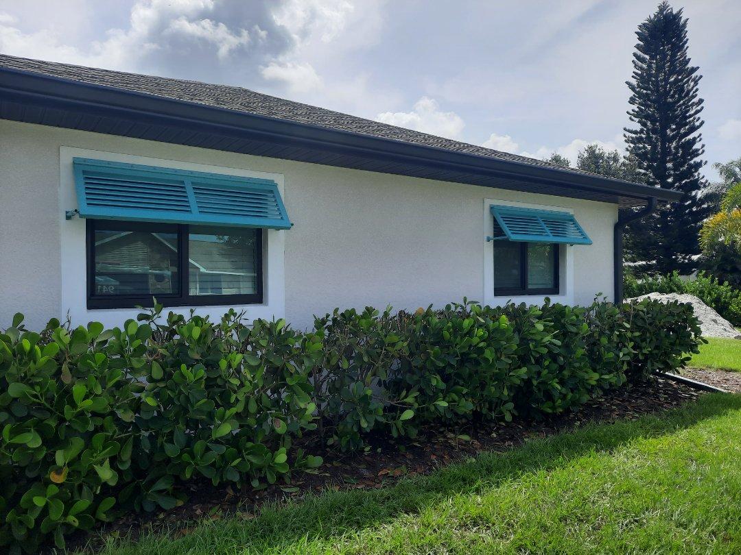 Installed Bahama shutters