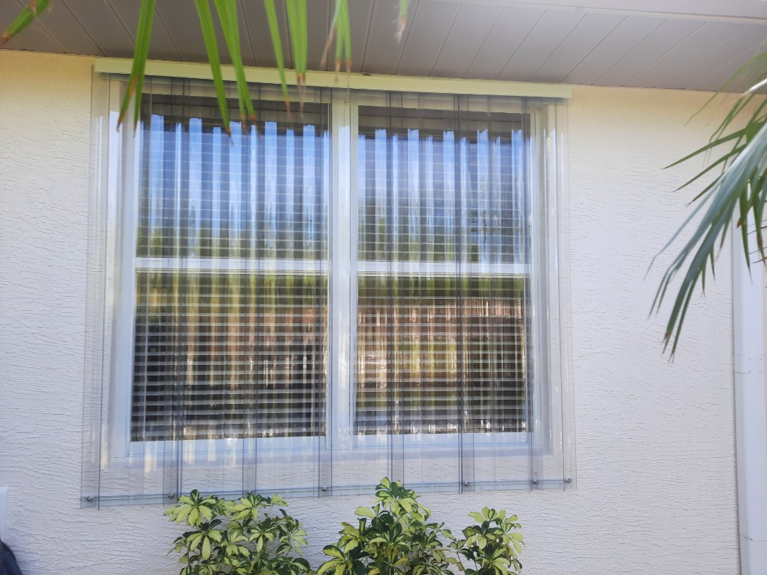 Replace old panel shutters with clear panels