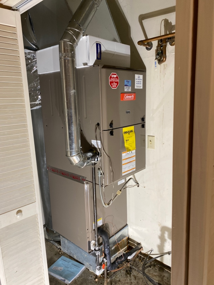 Newburgh, IN - Startup on new Coleman gas furnace.