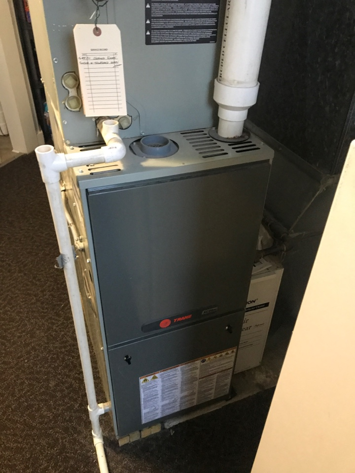 Evansville, IN - Repaired a Trane gas furnace