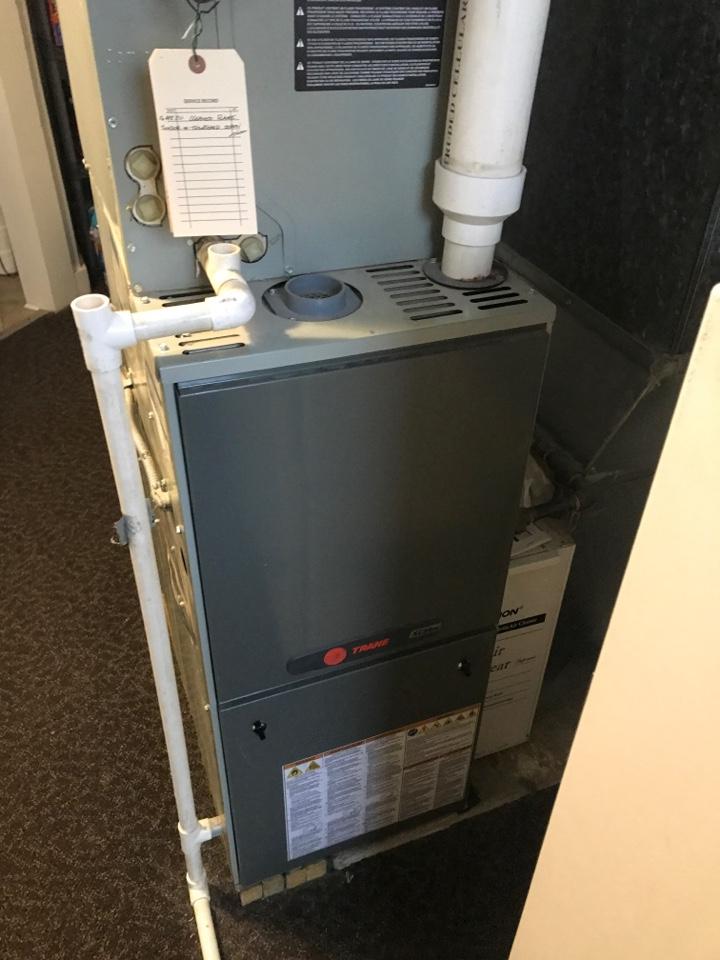 Repaired a Trane gas furnace