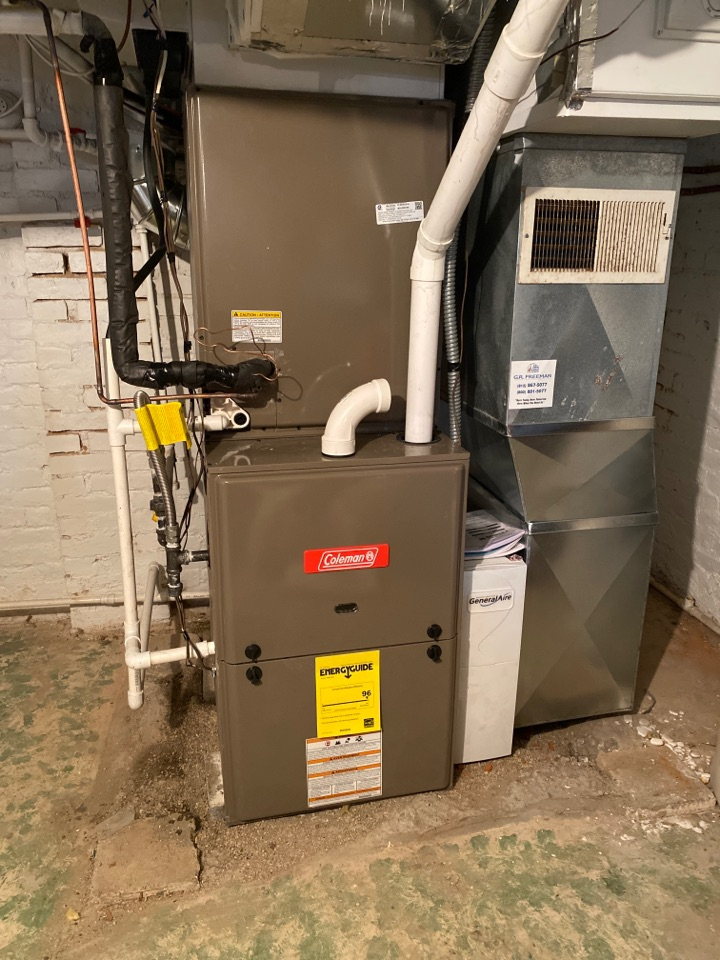 Newburgh, IN - Startup on new Coleman high efficiency gas furnace.