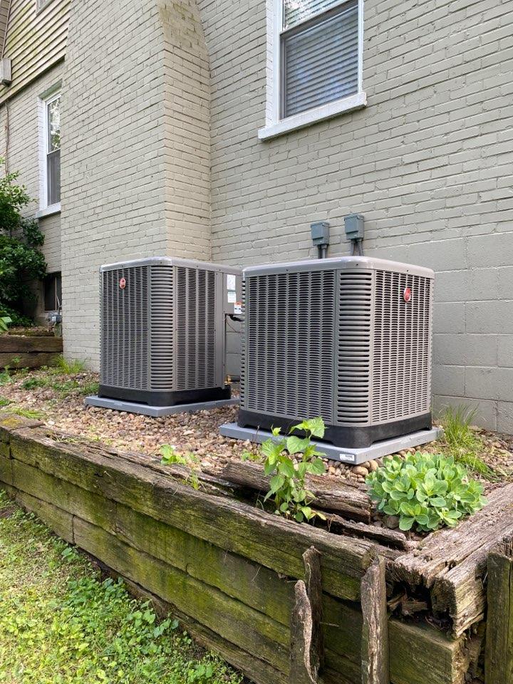 Evansville, IN - Startup on Rheem high efficiency air conditioner.