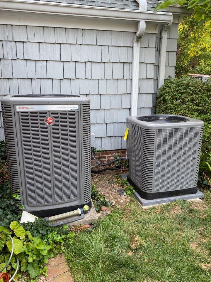 Evansville, IN - Startup on Rheem high efficiency modulating air conditioning.