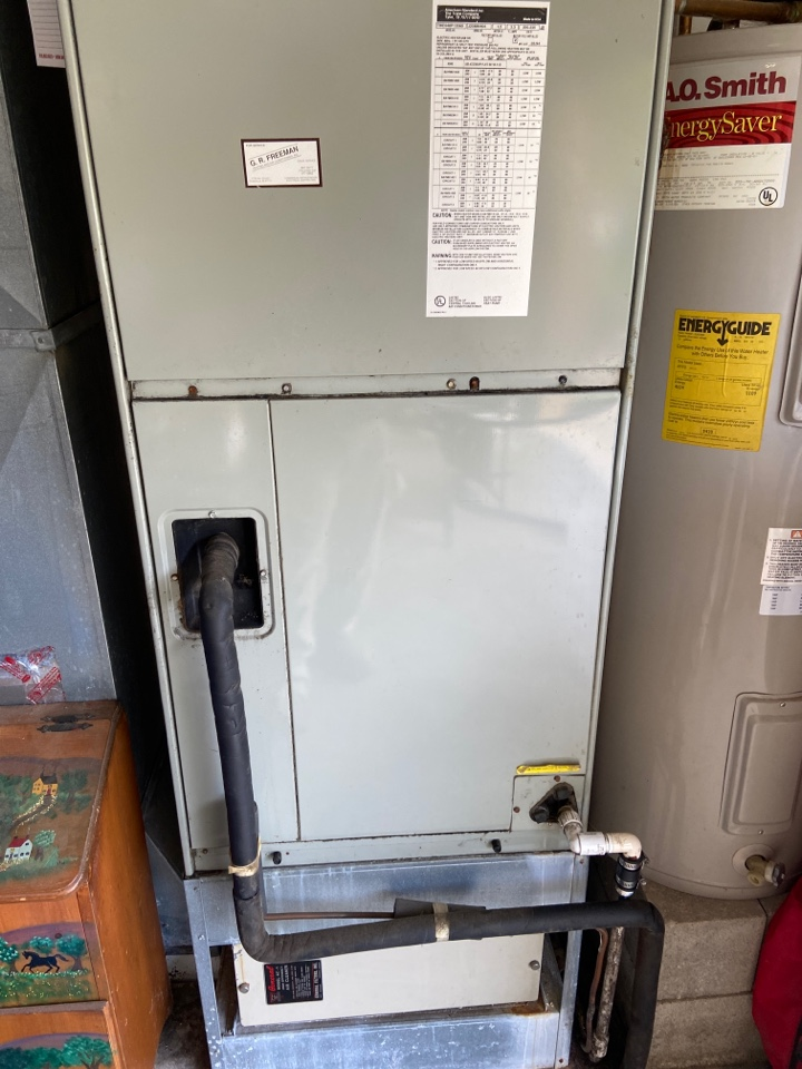 Heat pump maintenance.