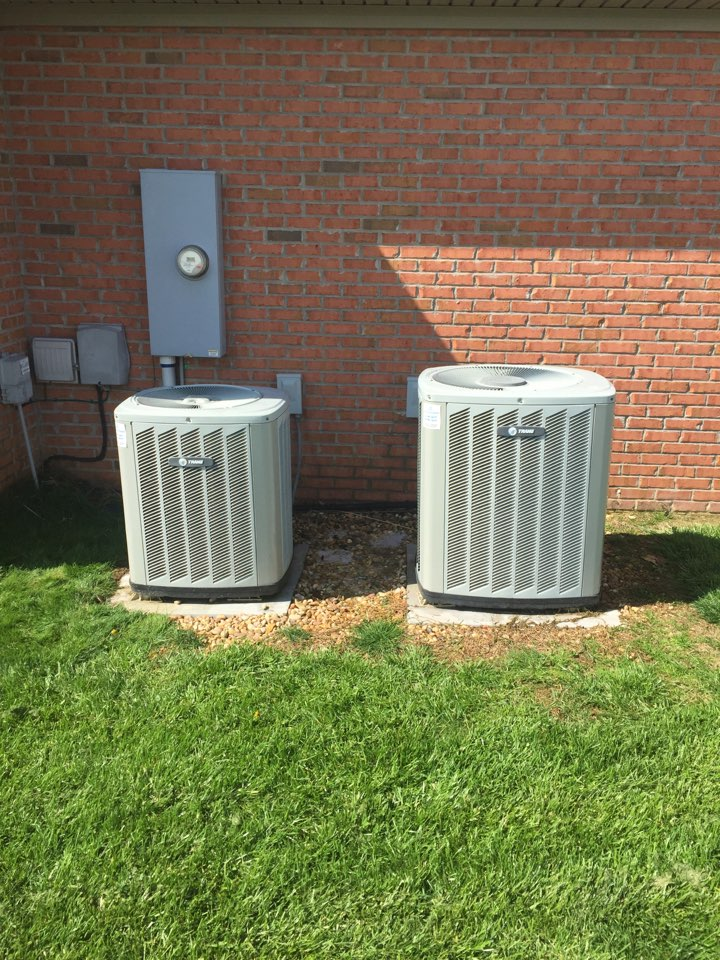 Fort Branch, IN - Summer maintenance on two Trane heat pumps.