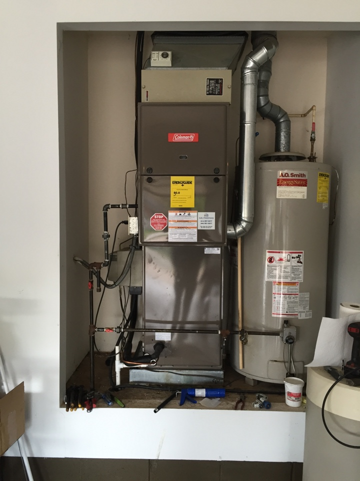 Chandler, IN - Install Coleman gas furnace