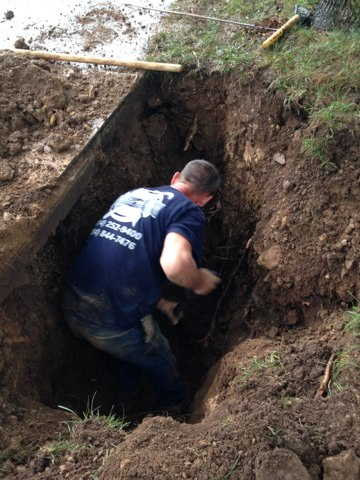 Dublin, OH - Excavate and repair water service line!
