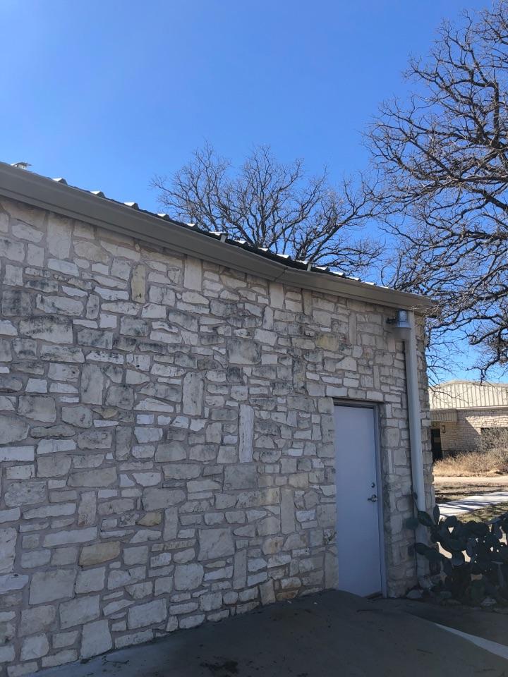 Buchanan Dam, TX - Quoting a gutter repair on a church in kingsland.