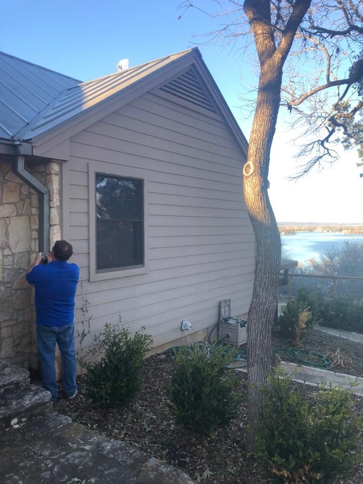 Horseshoe Bay, TX - Quoting a box gutter repair in horseshoe bay