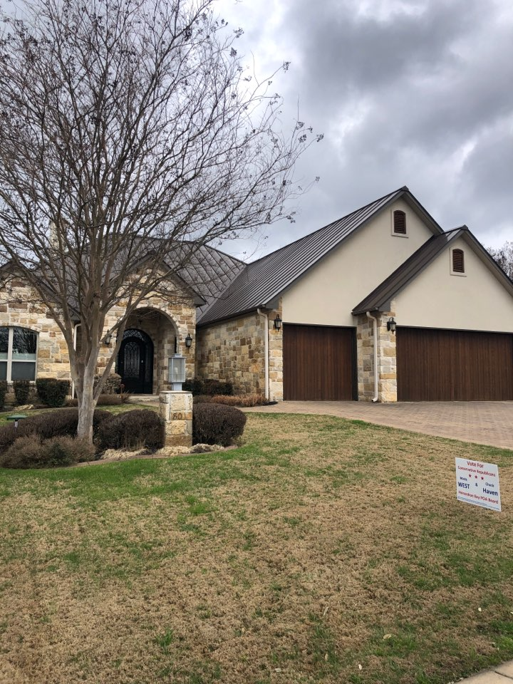 Horseshoe Bay, TX - Sold a gutter repair and replacement on a home in horseshoe bay.