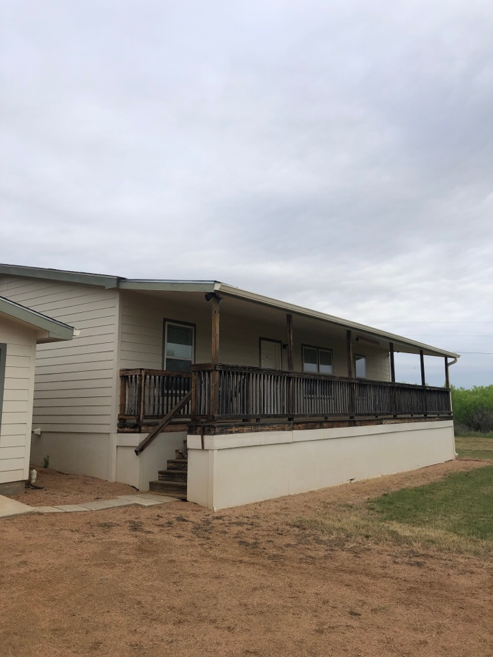 Llano, TX - Inspecting a roof for hail damage in llano