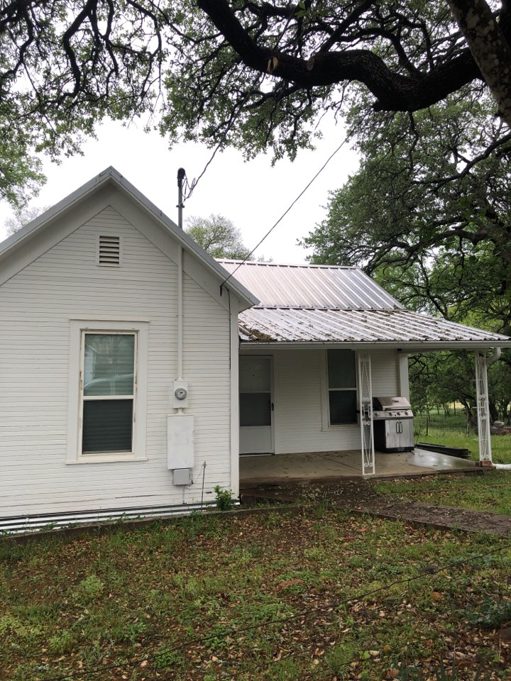 Llano, TX - This home was in the path of a hail storm. Inspecting for storm damage to see if it needs repair or replacement.
