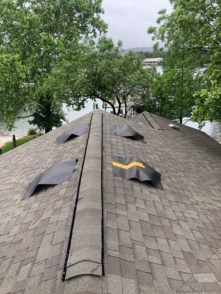 Marble Falls, TX - Performing a temporary repair on some damaged vents for a customer in granite shoals.
