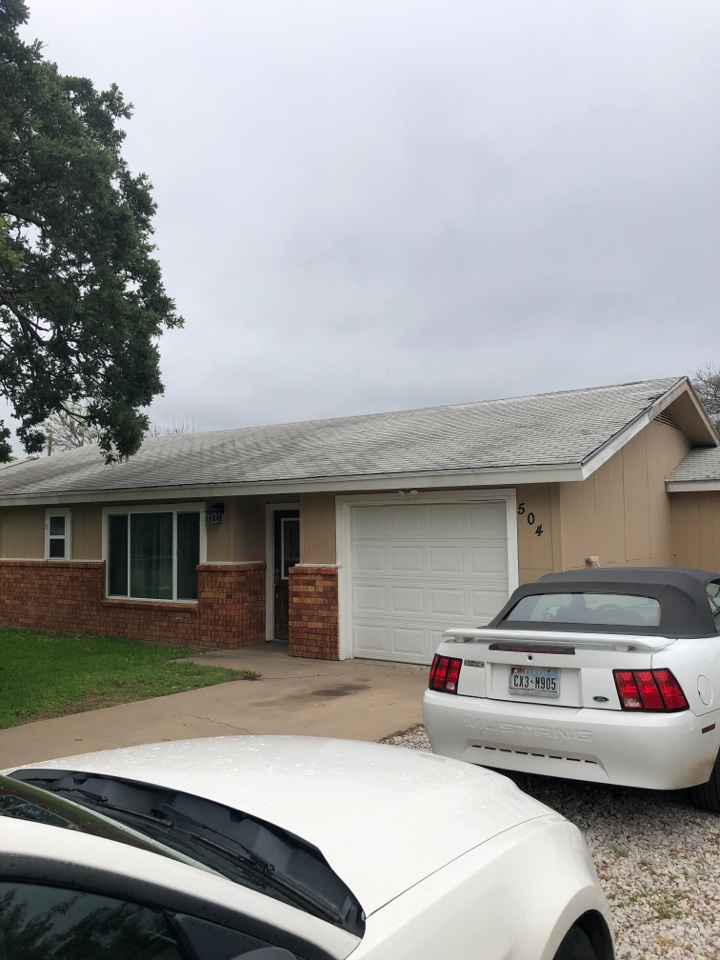 """Kingsland, TX - Quoting a 5"""" gutter install on a home in kingsland today."""